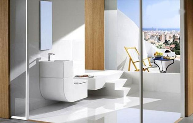 Cách bố trí thiết bị vệ sinh viglacera cho phòng tắm nhỏ