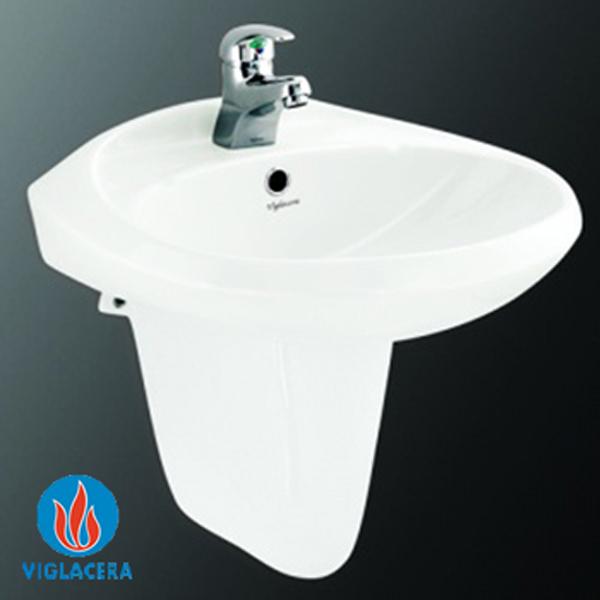 Chậu treo tường Viglacera VTL3 + chân VI5